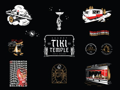 A Year in Review - II branding design potfolio flash sheet new orleans tales of the cocktail cocktail usps planes jpegmafia 3-color tiki illustration