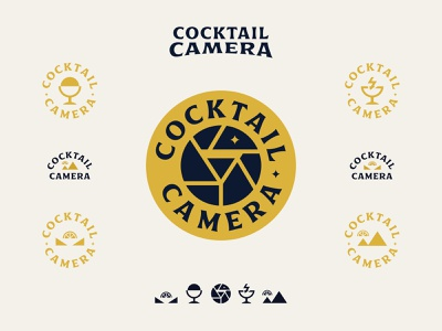 Cocktail Camera drinks type identity design branding photography icon badge camera cocktail