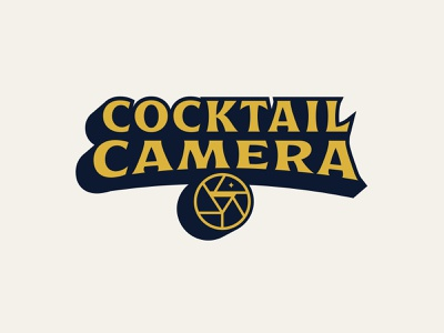 Cocktail Camrea - II badge identity design branding logo type lowdrag