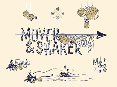 Mover & Shaker - Tiki Edition I illustration brand identity branding tropical tiki