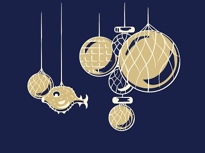 Mover & Shaker - Tiki Edition I pufferfish illustration