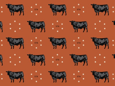 Pacetti Farms - I yeehaw brand identity cattle cows branding 3-color illustration