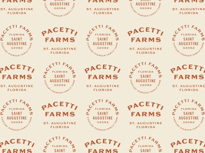 Pacetti Farms - II cattle st augustine badge design badge farm 1-color