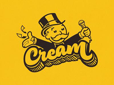 C.R.E.A.M. design yellow cream odb typography illustration wutang