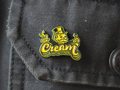 C.R.E.A.M. Enamel Pin microphone monopoly design hip hop pin typography illustration wutang lapel pin enamel pin