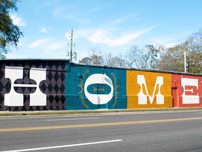 H O M E - Mural