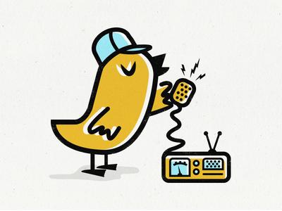 * Breaker * Breaker * this is Cheapie mid century mid mod cb radio illustration trucker bird mr. cheapies
