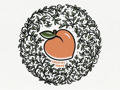 Creative South - 2017 hugnecks design peach creative south