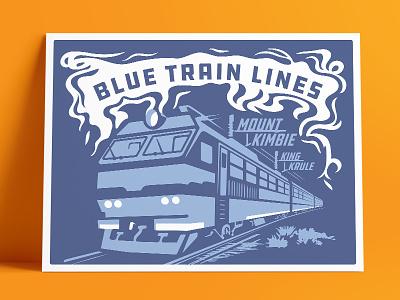 Mount Kimbie Ft. King Krule - Blue Train Lines asps17 aiga music type illustration poster blue train king krule mount kimbie