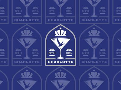 Queen City pin badge martini north carolina charlotte cocktails grey goose