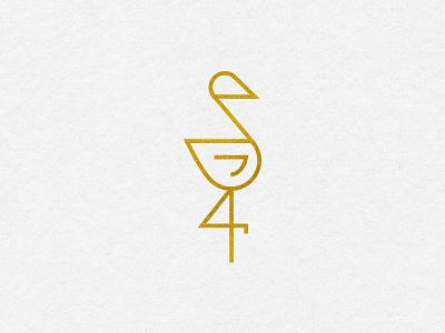 Spot Illustration - I icon illustration zoo gold monoline spot illustration flamingo