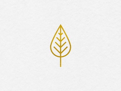 Spot Illustration - III zoo icon gold spot illustration illustration monoline leaf