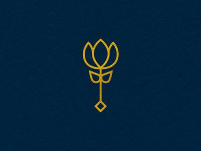 Spot Illustration - IV icon spot illustration illustration monoline zoo gold lotus flower