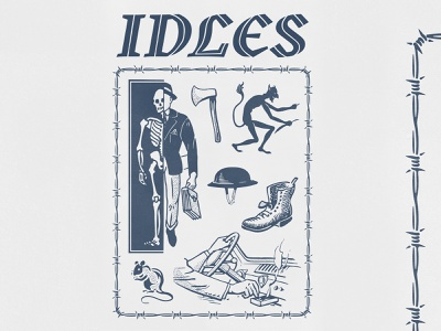 IDLES devil rat designplusmusic music barbed wire 2color gigposter poster aigajax aiga idles