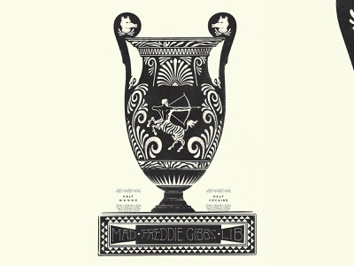 Freddie Gibbs / Madlib true grit texture supply texture illustration poster gigposter greek vase vase zebra pottery 1color designplusmusic aigajax aiga hiphop freddie gibbs madlib