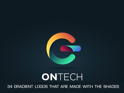 34 gradient logos that are made with the shades trendsdesgine trendsdesignhugger branding logo motion graphics graphic design 3d animation ui