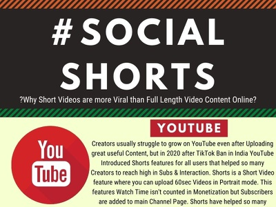 Short Videos are Better Online infographics infographic design infographic design