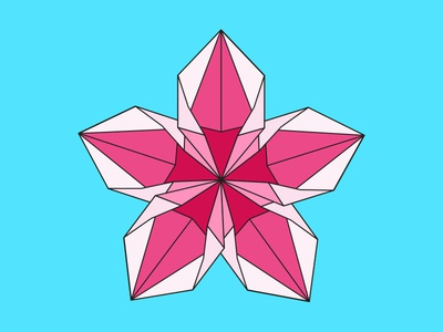Origami Flower Vector By Brittany Quinlan