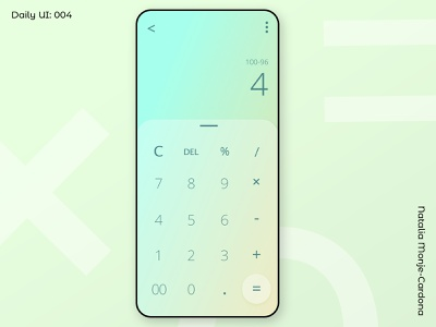 Daily UI: 004 Calculator beginner design dailychallenge shillumni numbers essentials clean ui simple calculator 004