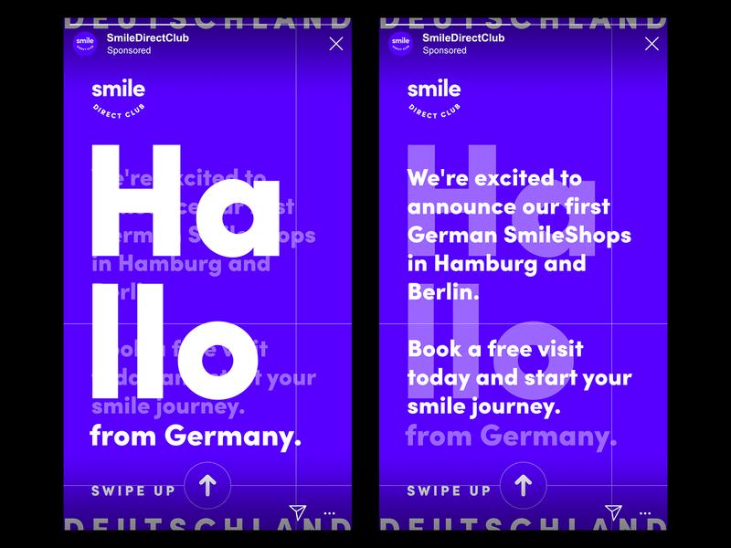 German Social Story Concept social media design story social instagram stories germany
