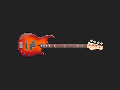 Guitar guitar photoshop illustration yamaha ad