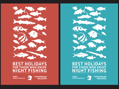 Promotional Posters for Sleepingfish posters simple minimalist fish sleeping tourism holidays night fishing