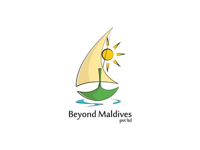 Beyond Maldives Logo logo travel maldives boat dhoni sun