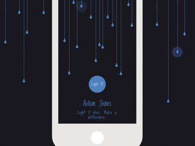 Light It Up Blue Mobile view blue april autism awareness bulb light it social help