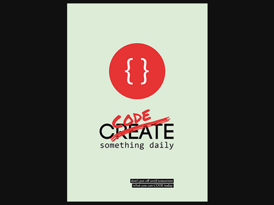 Code Something Daily code poster tech quote