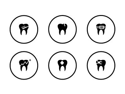 Icon set for Smiledives website icon icons simple smiledive smile maldives logo dentist dental teeth