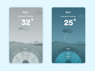 Winfo App - Rain Day & Night Versions mobile app weather app weather
