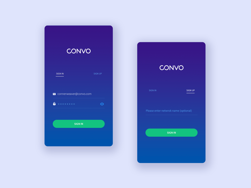 sign in and sign up ux ui login convo mobile app app mobile login mobile login screen sign up sign in