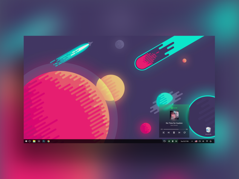 windows 10 taskbar redesign concept design daily ui daretodesign spotify redesign concept day001 100daychallenge redesign taskbar windows