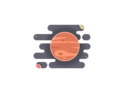 Jupiter Planet illustration planet jupiter space solar system flat design daretodesign challenge vector design dailyui illustration 100daychallenge