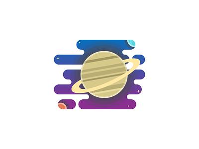 Saturn 🪐 Planet illustration solar panels illustraion daily 100 challenge saturn planet saturn 100 day challenge space solar system flat design daretodesign challenge design dailyui illustration 100daychallenge