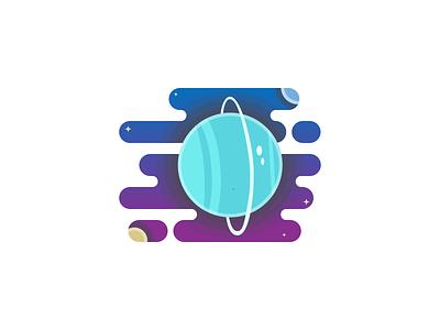 Uranus Planet illustration figma design figma vector illustration uranus planet solar uranus solar system space challenge 100 day challenge planet vector design flat design illustration 100daychallenge