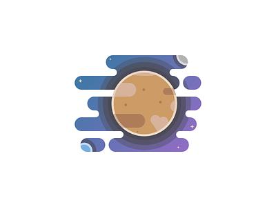 Pluto Planet illustration daretodesign challenge 100 day challenge planet solar system space flat design illustration 100daychallenge design