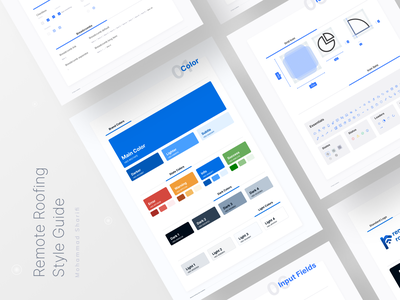case study: creating a minimal style guide for a startup remote roofing design process wireframe styleguide design style guide process of design article blog post style design system ux desgin ui design typography case study style guide branding ui logo flat design design