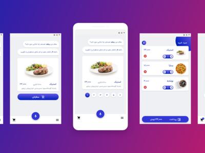 RoboFood persian food e-commerce ui conversational ui