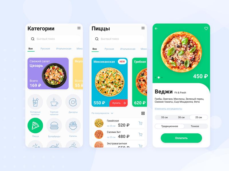 Pizza concept figma food pizza uidesign smart mobile ios webdesign icon app design app concept website web ux ui minimal design branding