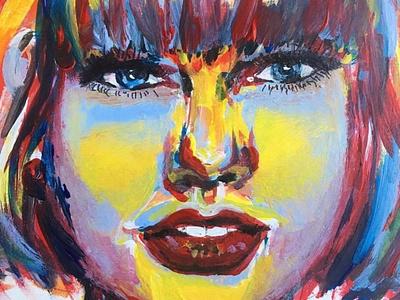 Taylor Swift abstract art portrait art portrait taylor swift portrait artist acrylic painting watercolour watercolour artist watercolor illustration illustration fashion illustration fashion design artist design art