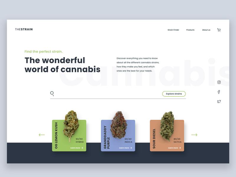 The Strain Cannabis Concept website concept ui cannabis design cannabis