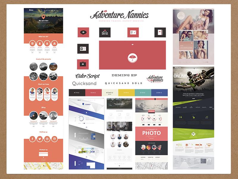 Adventure Nannies Mood Board moodboard design website design denver nannies zenman
