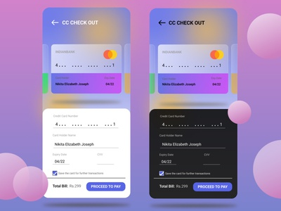 Payment done within a click! app design ui