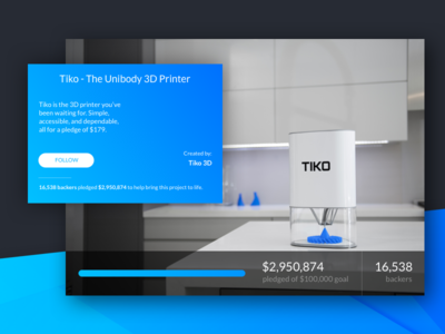 Crowdfunding Campaign - Daily UI 032
