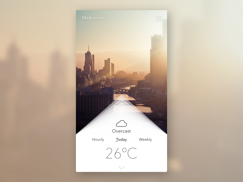Weather - DailyUI 037