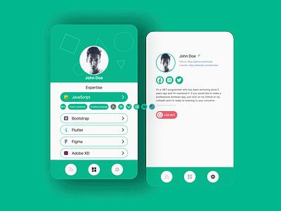 Portfolio Finder Mobile branding ui ux app minimal flat design portfolio