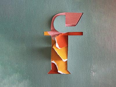 F Letter Paper Art monogram lettermark typeography 36daysoftype 3d art 3d yellow orange letter lettering art f type art type lettering papercut paperart