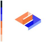 3D Conceptual Flat S Logo