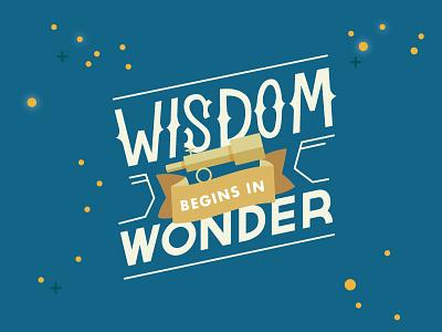 #DesignforGood 1 of 5: Wisdom telescope stars exploration space typography lettering nepal nonprofit